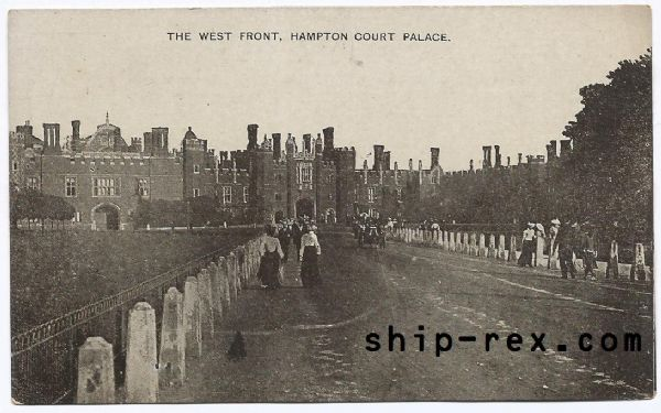 Hampton Court Palace, The West Front - old postcard